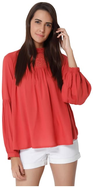 586853f4cb1 Buy Vero Moda Women Red Tops Online at Low Prices in India ...