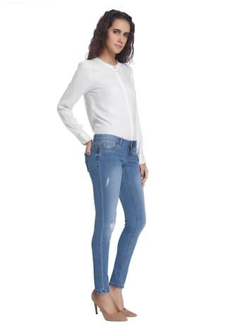 Solid Jeans Women Vero Moda Blue Casual Light wzxTqP06qU