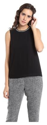 Vero Moda Women Cotton Geometric - A-line top Black