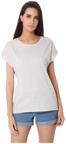 Vero Moda Women Printed V neck Tank top - White