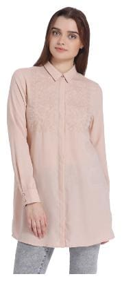 Vero Moda Women Regular fit Geometric Shirt - Pink