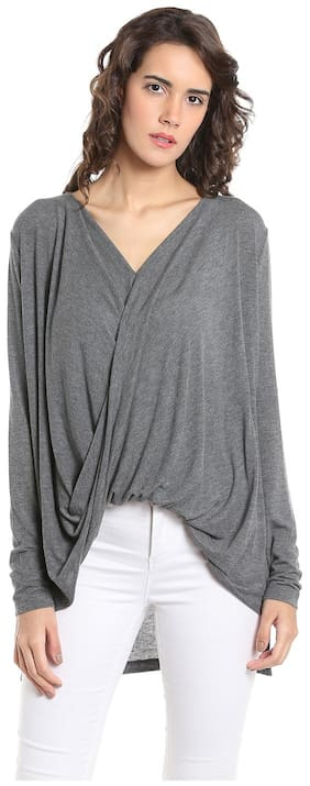 Vero Moda Geometric Grey T Shirt