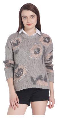 Women Geometric Sweater