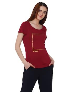 Vero Moda Printed Red T Shirt