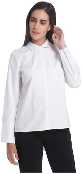 Vero Moda Women Regular fit Geometric Shirt - White