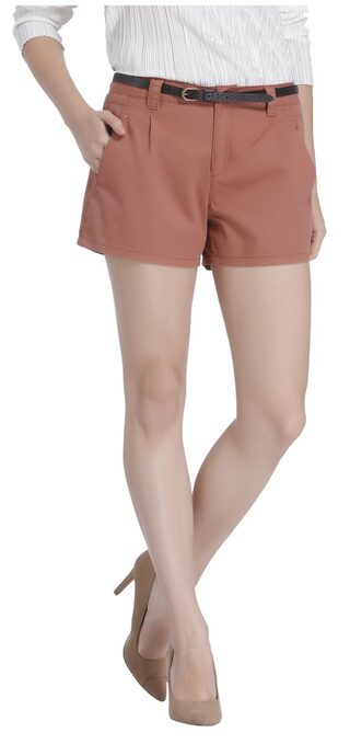 Vero Moda Women Solid Shorts - Brown