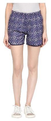 Veronique Women Floral Sport shorts - Blue