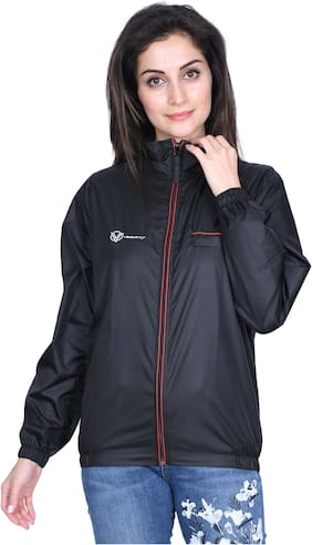 Versatyl Women Solid Sports jacket - Black