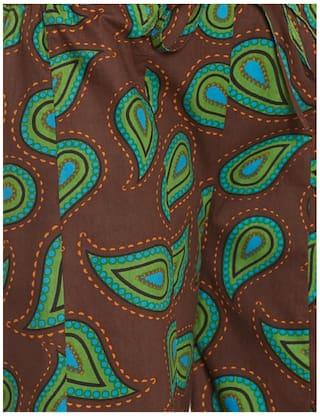 Very Me Women's Designer Brown Pure Cotton Printed Palazzo Size:- L / L