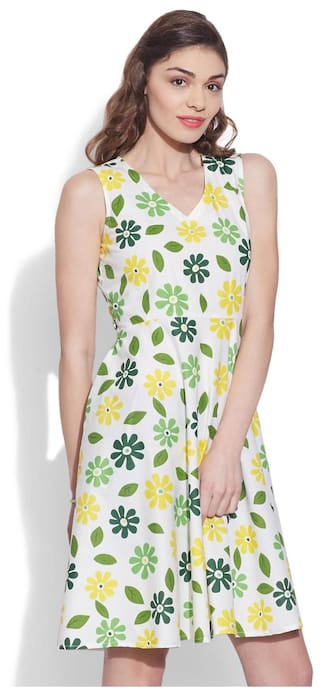Pure Green Designer Women's Xs Dress Cotton Very Me 30 Size Printed wqSUFHx