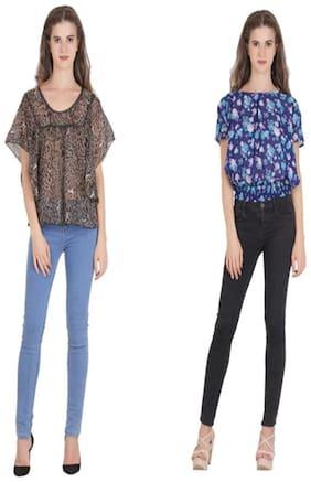 VF FASHIONS Women Chiffon Printed - Regular top Multi