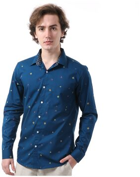 Vida Loca Men Slim Fit Casual shirt - Blue