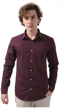 Vida Loca Men Slim Fit Casual shirt - Maroon