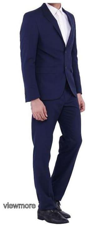 VIEWMORE Men Cotton Regular fit Suit - Blue