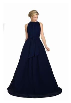 Viha Blue Georgette Anarkali Stitched Gown
