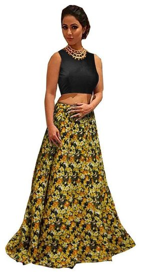 Viha Silk Floral Flared Lehenga Choli - Yellow