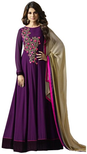 Viha Georgette Embroidery Semi-stitched Anarkali Gown