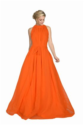 Viha Orange Georgette Anarkali Stitched Gown