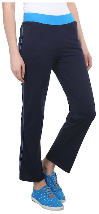 2 Navy Blue Women amp Of Pack  Black For Cotton Trackpant Vimal dHR5M4Tf