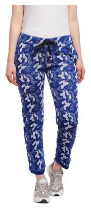 Vimal Blue Camouflage/Military/Army Trackpant For Women