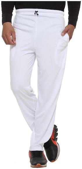 VIMAL JONNEY Men Cotton blend Track Pants - White