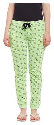 VIMAL JONNEY Women Slim fit Cotton Printed Track pants - Green
