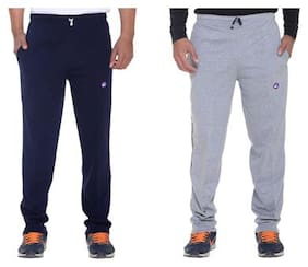 VIMAL JONNEY Men Cotton Track Pants - Grey