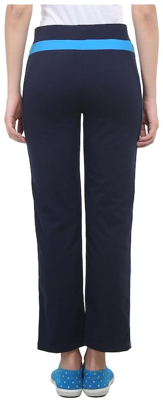 Trackpant Cotton For Melange Pack 2 Grey Of Vimal Blue  amp Navy Women O4quu4W