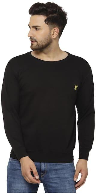 VIMAL JONNEY Men Black Round neck Sweatshirt