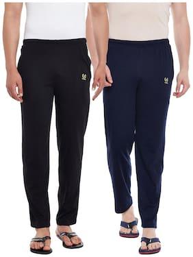 VIMAL JONNEY Men Cotton blend Track Pants - Black