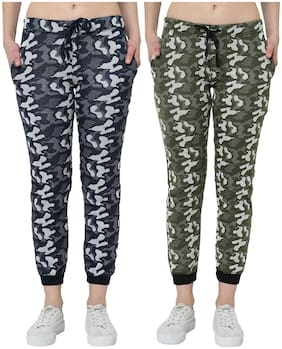 Women Regular Fit Track Pants ,Pack Of 2