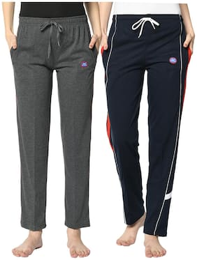 Women Regular Fit Track Pants ,Pack Of 2