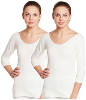 Vimal Jonney Winter Premium White Thermal Upper Top For Women