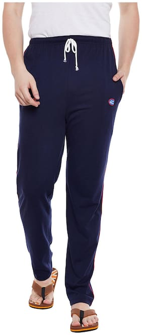 VIMAL JONNEY Men Blended Track Pants - Blue