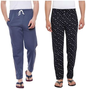 Regular Fit Cotton Track Pants ,Pack Of Pack Of 2