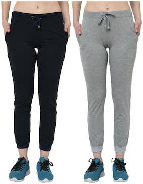 Women Regular Fit Joggers ,Pack Of 2
