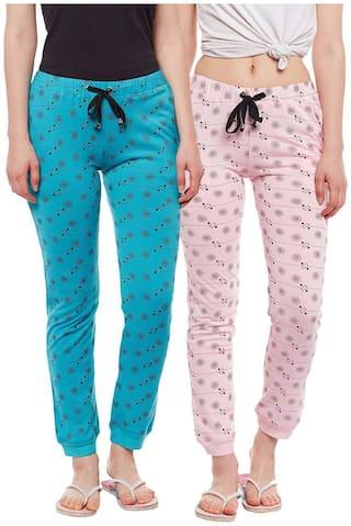 VIMAL JONNEY Women Regular fit Blended Solid Track pants - Multi