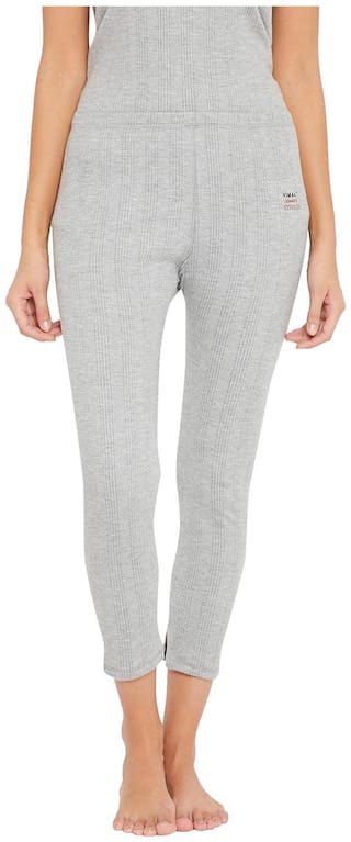 VIMAL JONNEY Women Cotton Thermal bottom - Grey