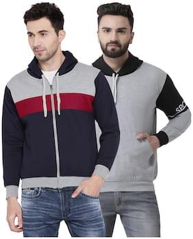 Men Solid Sweatshirt Pack Of 2