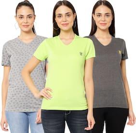 Women Half Sleeves T Shirt ,Pack Of 3