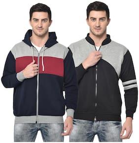 Men Colourblocked Sweatshirt Pack Of 2