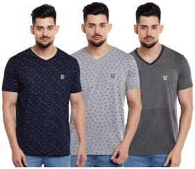 Men V Neck Printed T-Shirt