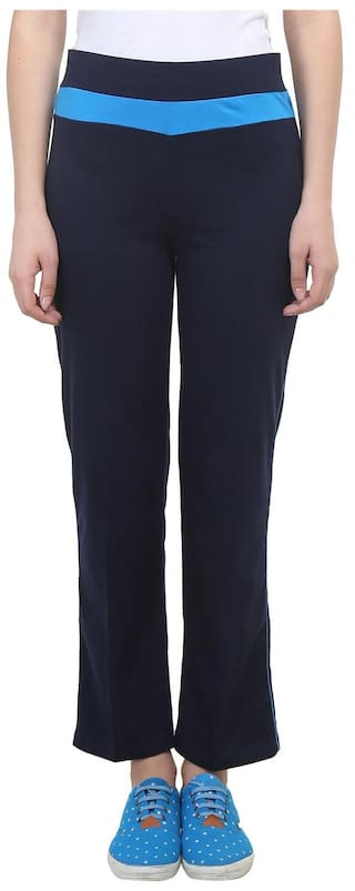 For Vimal Cotton Women Trackpant Navy Blue wZCUOY