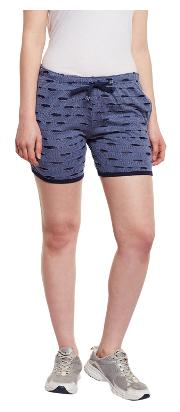 Vimal Women Printed Shorts - Blue