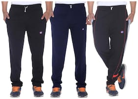 Regular Fit Cotton Track Pants ,Pack Of Pack Of 3