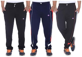 Regular Fit Cotton Track Pants Pack Of 3