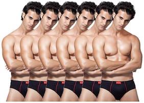 Men Cotton Solid Underwear ,Pack Of 6
