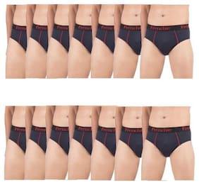 Men Cotton Solid Underwear ,Pack Of 14