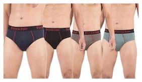 Men Cotton Solid Underwear ,Pack Of 4