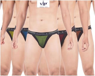 VIP Solid Briefs - Assorted ,Pack Of 5